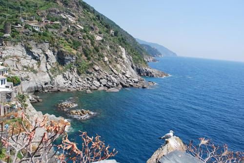 ヴェルナッツァの青い海