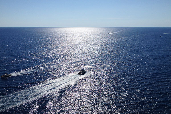 ポルトヴェネレの青い海