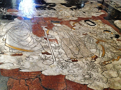 シエナのドゥオモの床
