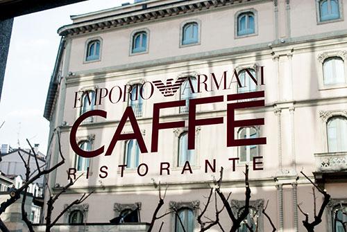ミラノのアルマーニカフェ