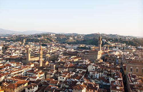 ジョットの鐘楼からヴェッキオ宮殿