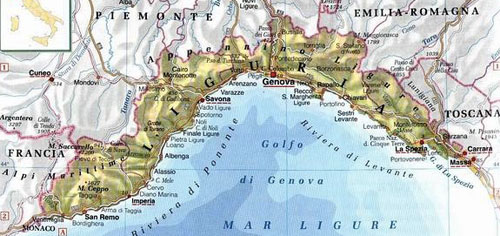 チンクエテッレ地図