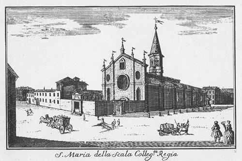 ミラノのサンタマリアデッラスカーラ教会