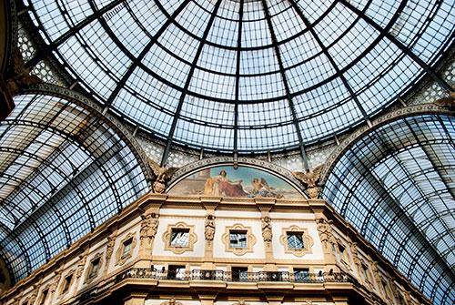 ミラノのガレリア天井