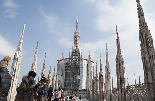 ミラノのドゥオモ屋上