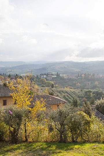 サンジミニャーノの田園風景