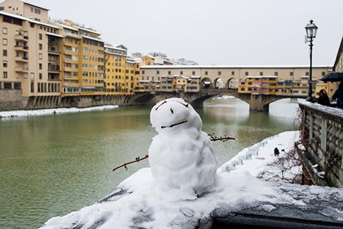雪のフィレンツェ