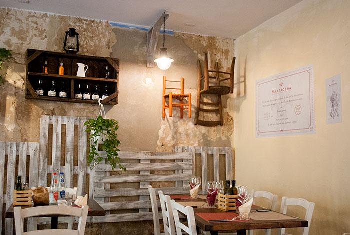 フィレンツェのレストランMattacena