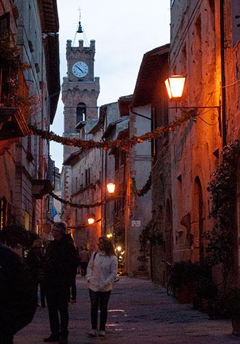 ピエンツァの町クリスマス