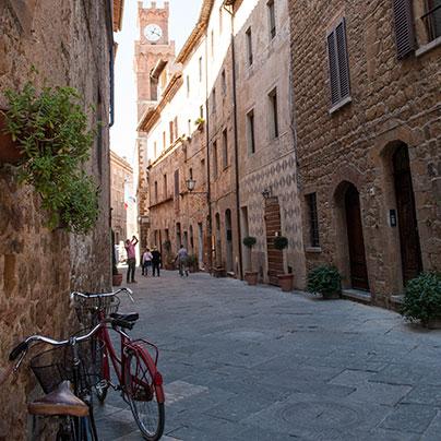 ピエンツァのメインストリート