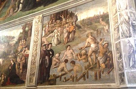 ルッカ聖フレディアーノフレスコ画