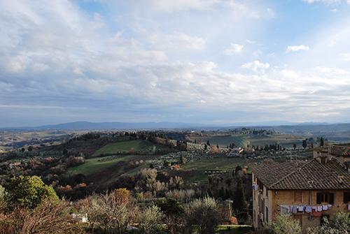 サンジミニャーノからの田園風景