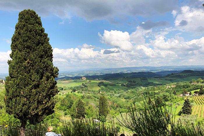 トスカーナの田園風景