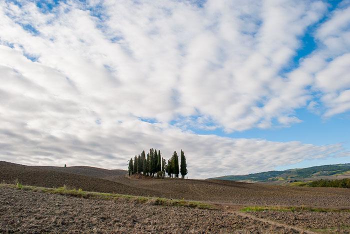 10月のオルチャ渓谷