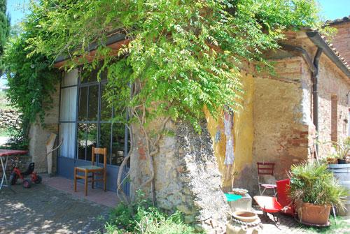 ペコリーノチーズ農家の家