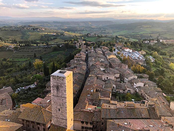 サンジミニャーノグロッサの塔からの眺め