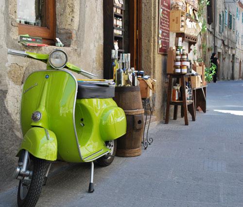 ピティリアーノとバイク