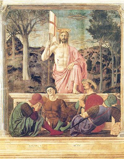 ピエロデッラフランチェスカフレスコ画