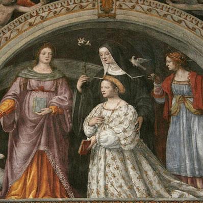 サンマウリッツィオ教会フレスコ画女性