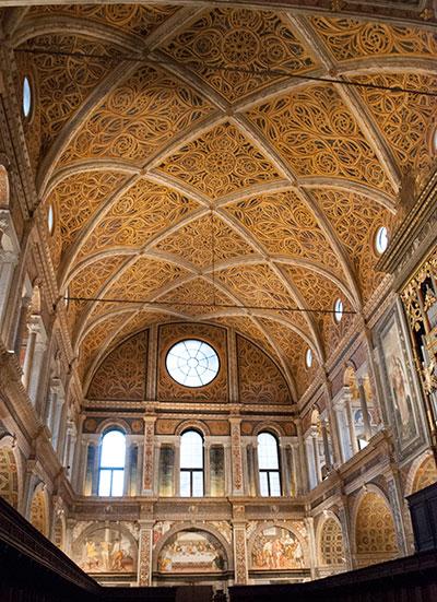 サンマウリッツィオ教会天井