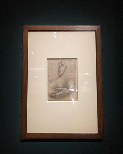 レオナルド手の描写