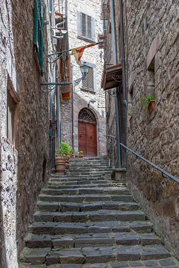 ボルセナ村階段