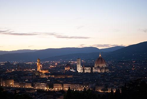 フィレンツェ景色日没