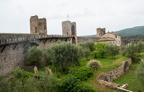 モンテリッジョーニ城塞の上