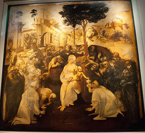 レオナルド・ダ・ヴィンチの東方三博士の礼拝