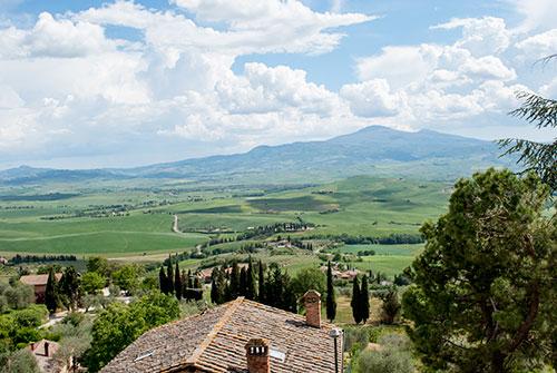 ピエンツァからの景色