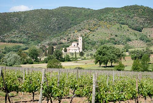 オルチャ渓谷とサンタンティモ修道院