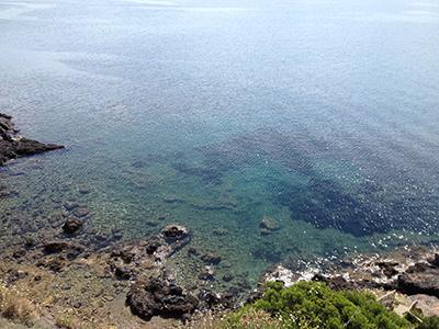 青い海の煌めき