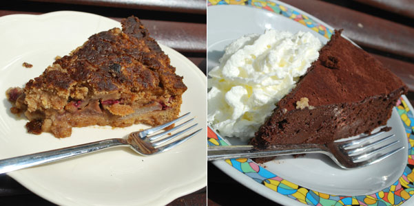 チョコとラズベリーケーキ