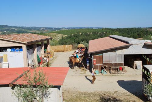 トスカーナで乗馬