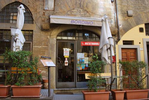 フィレンツェのトラットリアIl Bordino
