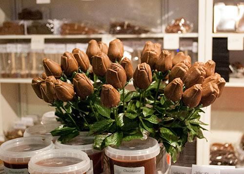 チョコのチューリップ