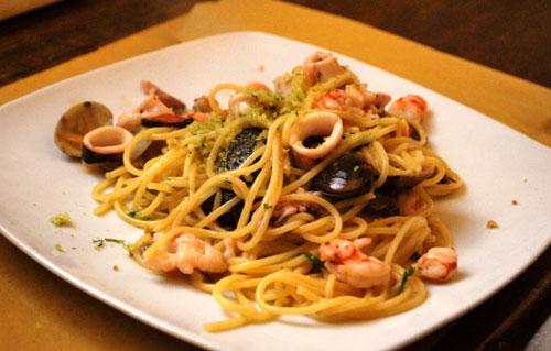 魚介のスパゲッティ