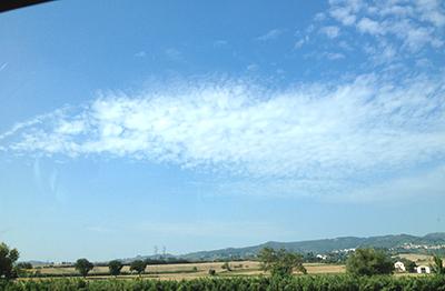 車窓から雲