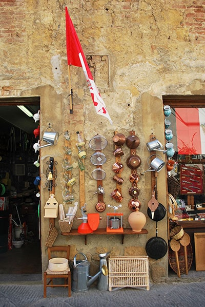 ピエンツァのお店