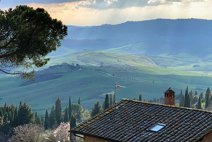 ピエンツァからオルチャ渓谷の眺め
