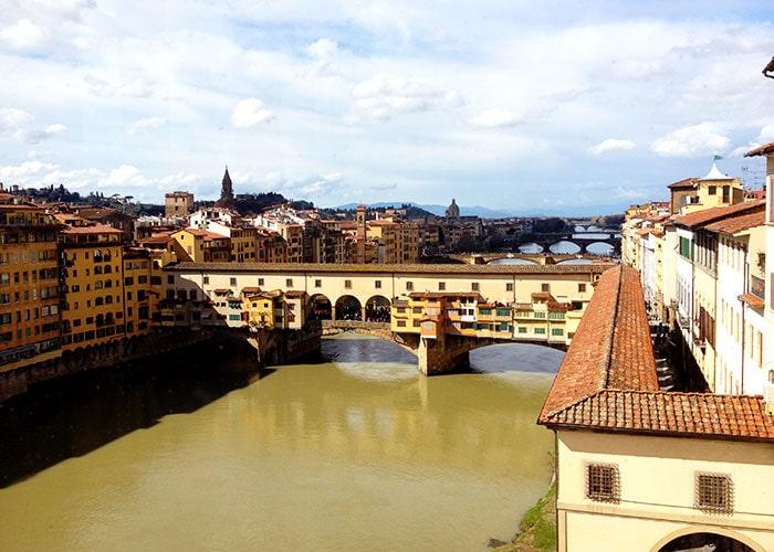 フィレンツェのヴァザーリの回廊