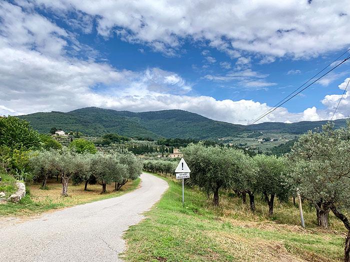 モレッロ山への道