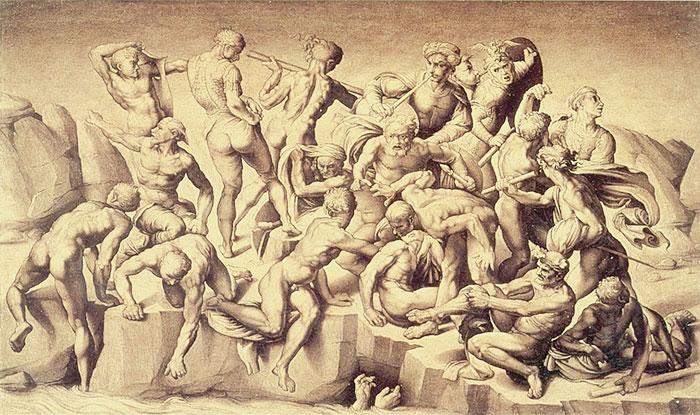ミケランジェロによる「カッシナの戦い」