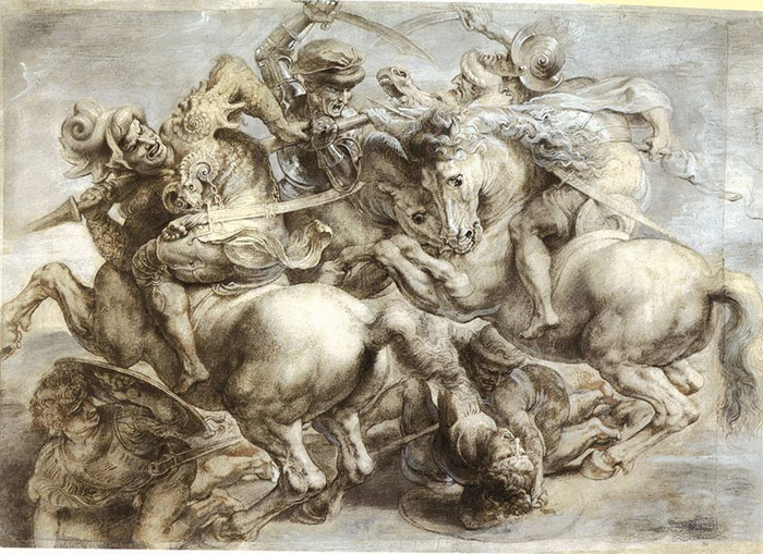 レオナルドのアンギアーリの戦い