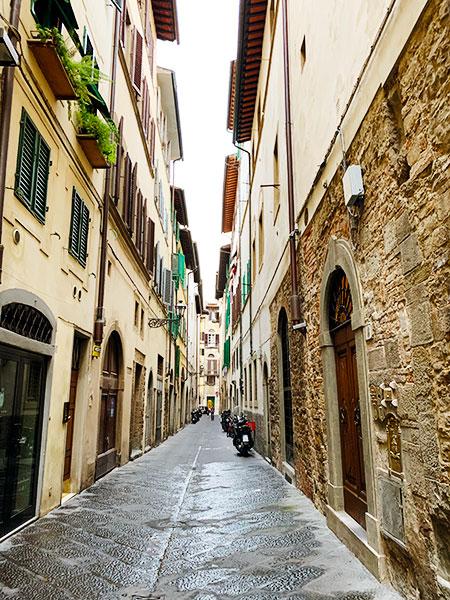 フィレンツェの通り