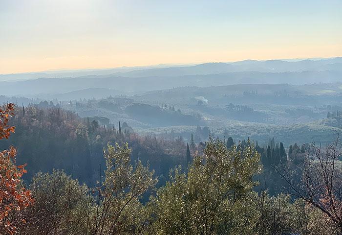 丘の連なる景色